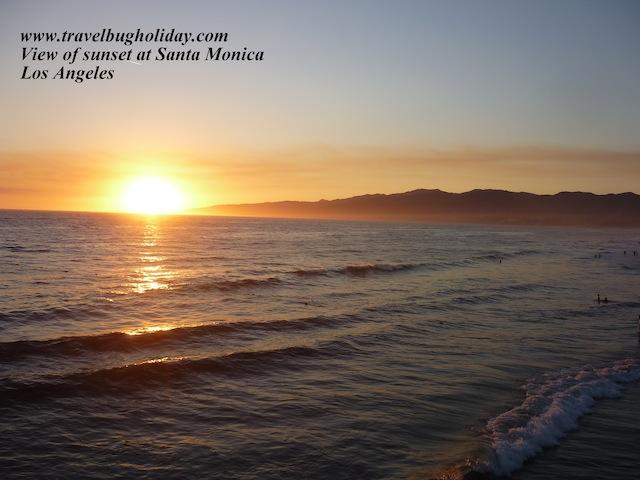 Sunset at Santa Monica, Los Angeles