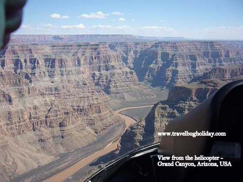 View from EC130 helicopter at Grand Canyon, Colorado River, Las Vegas