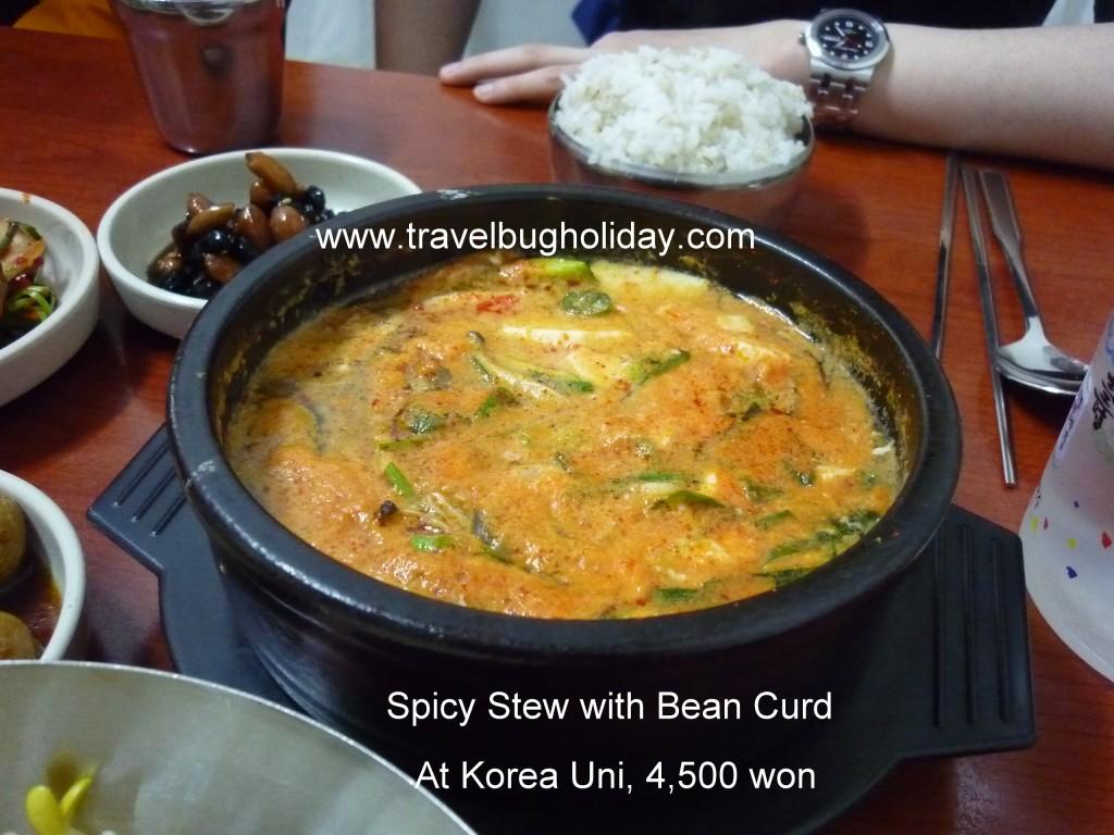 Beancurd Stew, Seoul, Korea