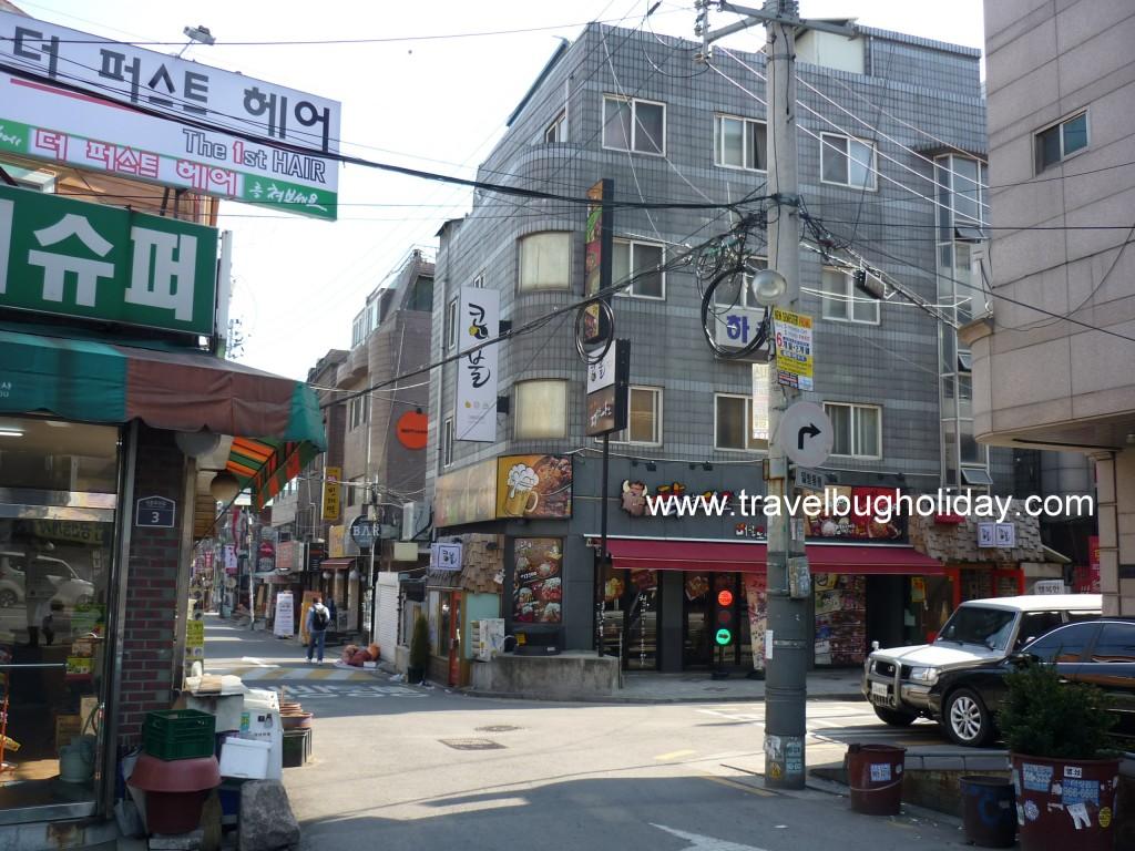 Shops around Korea University, Seoul, Korea