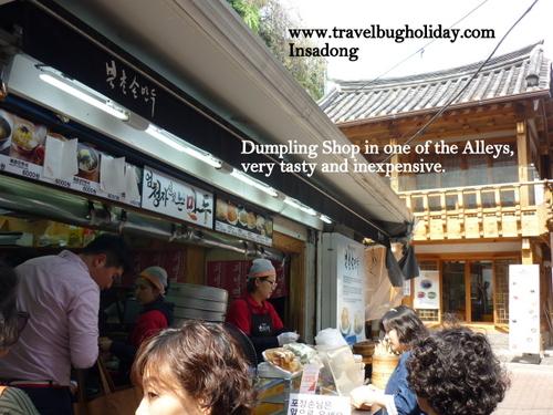 Yummy Dumpling store at side streets, Insadong, Seoul, Korea