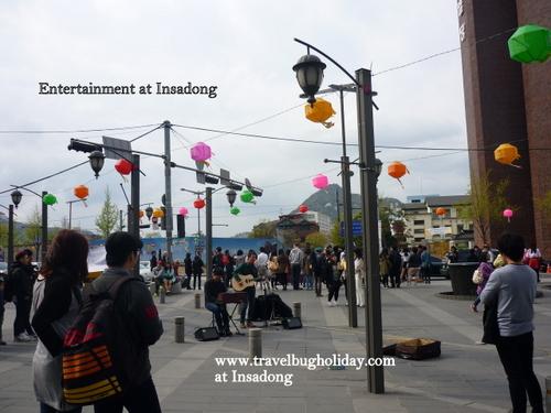 Entertainers at Insadong, Seoul, Korea