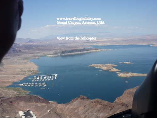 View of Lake Mead from Helicopter, Grand Canyon, Arizona, USA