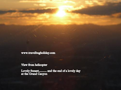 Sunset at Las Vegas, Helicopter View, Arizona, USA