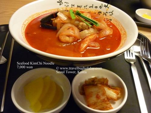 Seafood KimChi Noodle, Seoul Tower