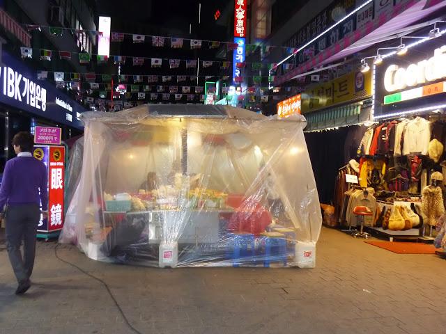 Stay warm while eating at Namdaemun Market