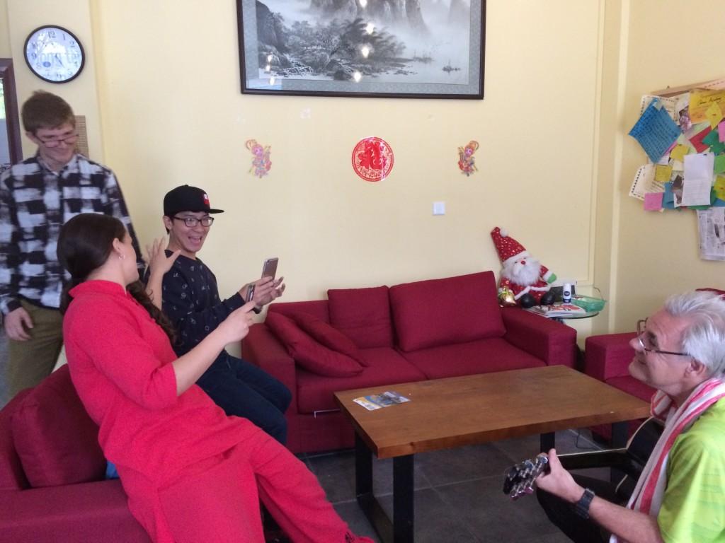 Yangshuo, China, students in Omeida School