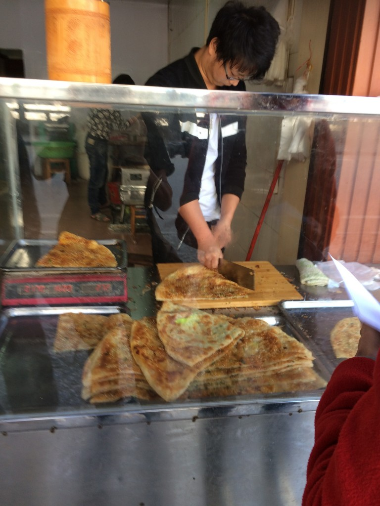 Yangshuo, China, vegetarian pancakes