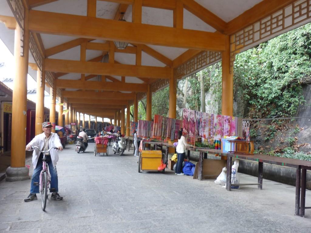 Yangshuo, China, Cycling and buying souvenirs along the way